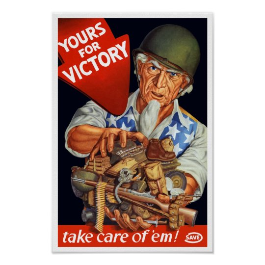 Uncle Sam -- Yours For Victory -- WWII Poster