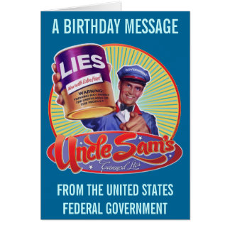 Uncle Sam's Canned Lies Card