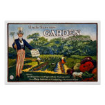 Uncle Sam's Garden, 1917 Print