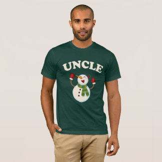 Uncle Snowman T-shirt Pajama Family Matching Gift