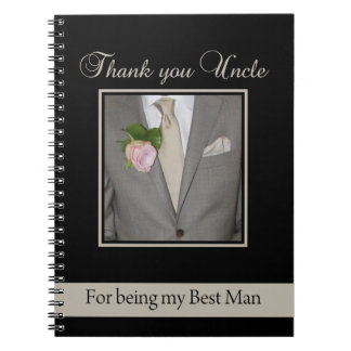 Uncle thank you best man notebook