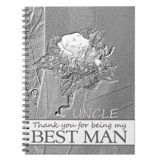 Uncle thank you best man spiral note book