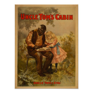 Uncle Tom's Cabin Black Man & Girl Theatre Poster