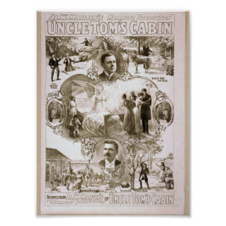 Uncle Tom's Cabin Retro Theater Poster