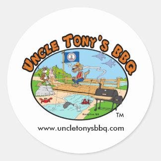 Uncle Tony's BBQ Stickers (Cartoon Logo)