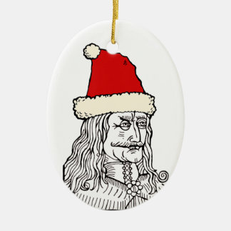 Uncle Vlad's Christmas Ceramic Oval Ornament