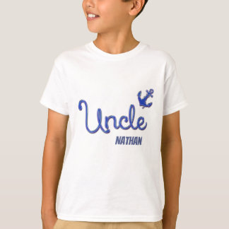 Uncle with Anchor and Name T-Shirt