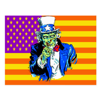 Uncle Zombie Sam Postcard