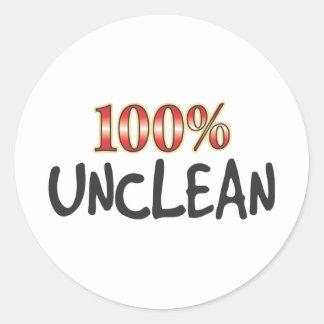 Unclean 100 Percent Sticker