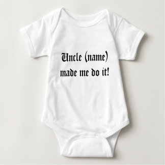 Uncles are tricky baby bodysuit