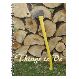 Uncle's Chores-Axe and Woodpile Notebook