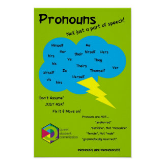 Unclouding Pronoun Print