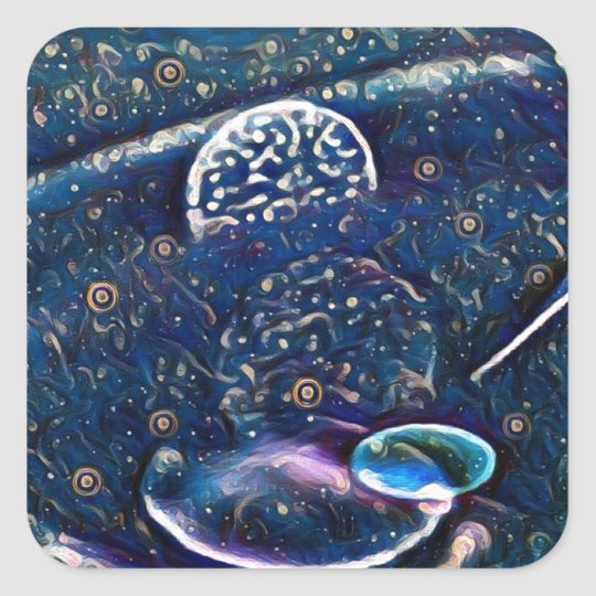 Uncommon Alien Worlds Abstract Photography Square Sticker