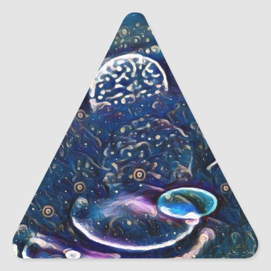 Uncommon Alien Worlds Abstract Photography Triangle Sticker