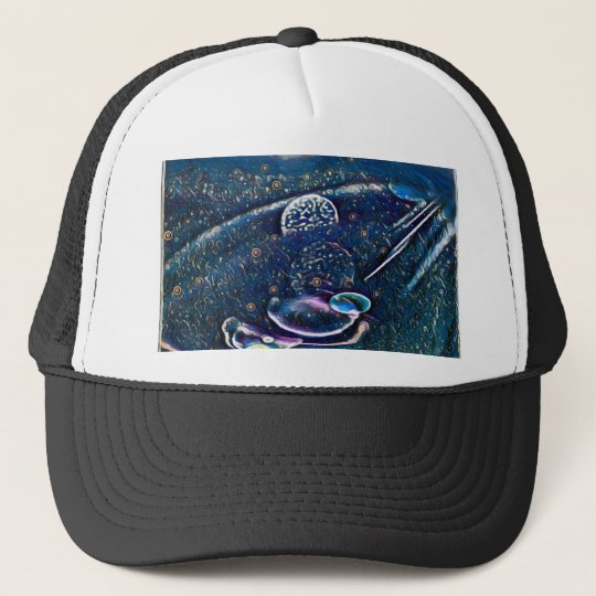 Uncommon Alien Worlds Abstract Photography Trucker Hat