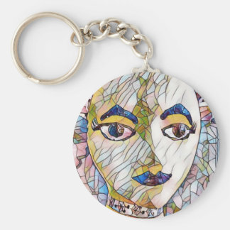Uncommon Artistic Mannequin Face Keychain