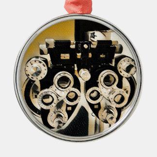 Uncommon  Artistic Optometry Exam Lenses Metal Ornament