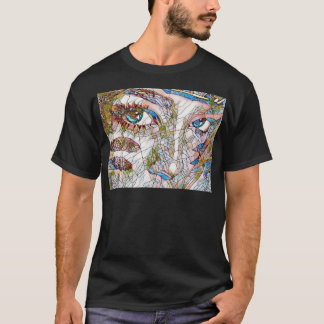 Uncommon Artistic Stained Glass Facial Features T-Shirt