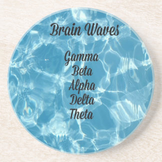 "Uncommon Blue Wavy ""Brain Waves"" Beverage Coaster"