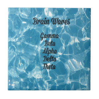 "Uncommon Blue Wavy ""Brain Waves"" Ceramic Tile"