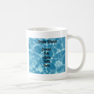 "Uncommon Blue Wavy ""Brain Waves"" Coffee Mug"