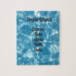 "Uncommon Blue Wavy ""Brain Waves"" Jigsaw Puzzle"