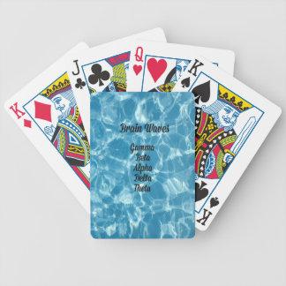 "Uncommon Blue Wavy ""Brain Waves"" Poker Deck"