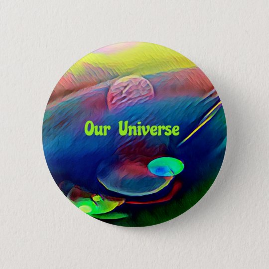 Uncommon Bright Rainbow Our Universe Abstract 2 Inch Round Button