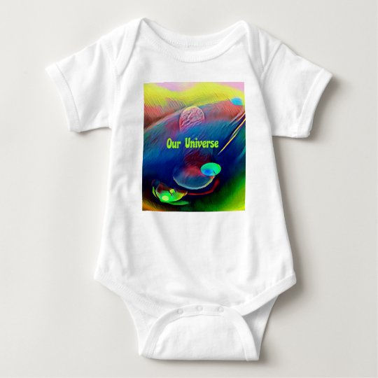 Uncommon Bright Rainbow Our Universe Abstract Baby Bodysuit