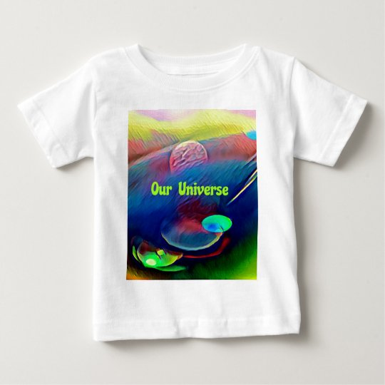Uncommon Bright Rainbow Our Universe Abstract Baby T-Shirt