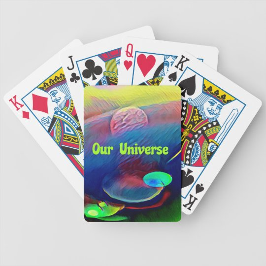 Uncommon Bright Rainbow Our Universe Abstract Bicycle Playing Cards