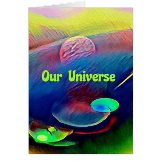Uncommon Bright Rainbow Our Universe Abstract Card