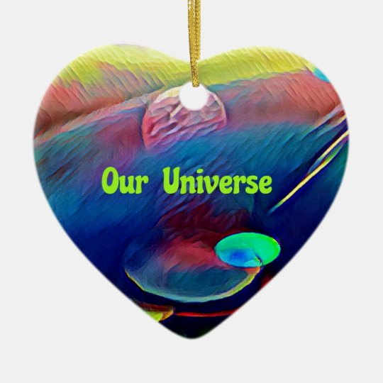 Uncommon Bright Rainbow Our Universe Abstract Ceramic Ornament