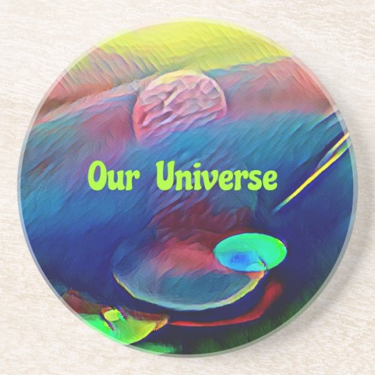 Uncommon Bright Rainbow Our Universe Abstract Coaster