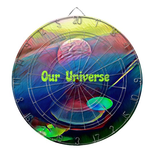 Uncommon Bright Rainbow Our Universe Abstract Dartboard