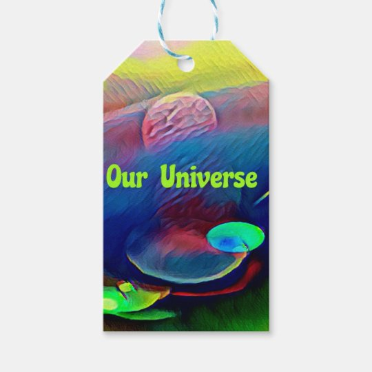 Uncommon Bright Rainbow Our Universe Abstract Gift Tags