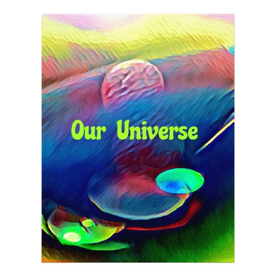 Uncommon Bright Rainbow Our Universe Abstract Letterhead