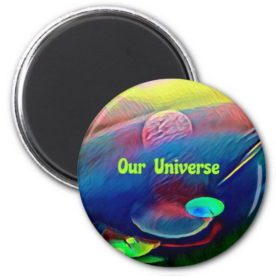 Uncommon Bright Rainbow Our Universe Abstract Magnet