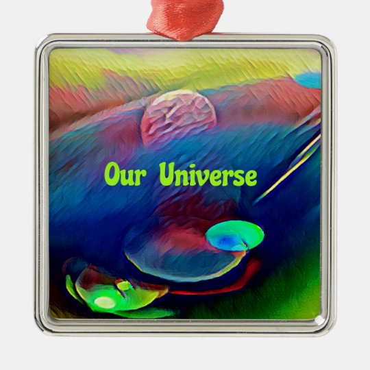 Uncommon Bright Rainbow Our Universe Abstract Metal Ornament