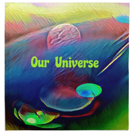Uncommon Bright Rainbow Our Universe Abstract Napkin