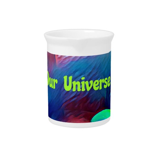 Uncommon Bright Rainbow Our Universe Abstract Pitcher