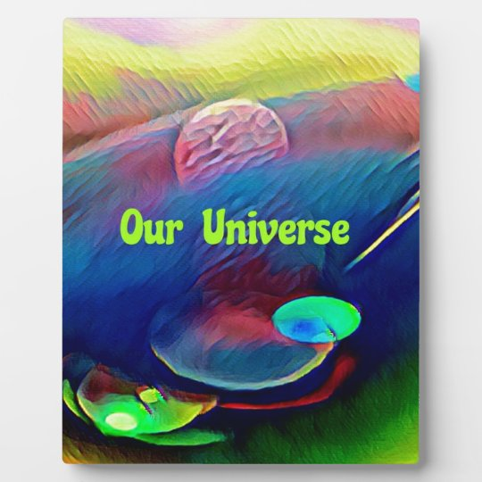 Uncommon Bright Rainbow Our Universe Abstract Plaque