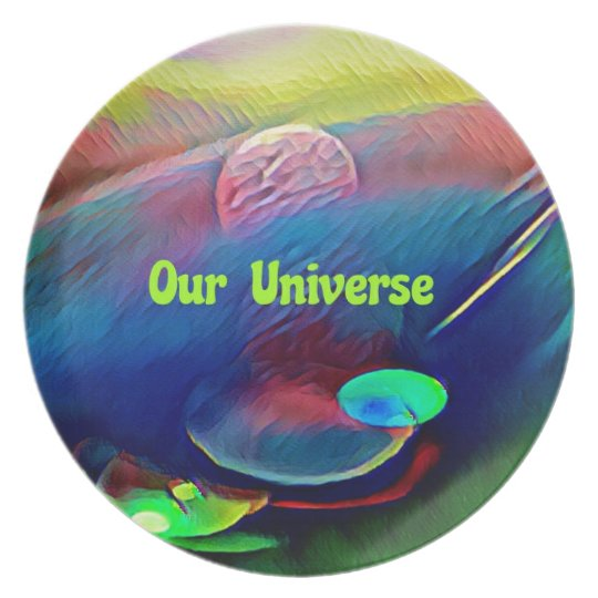 Uncommon Bright Rainbow Our Universe Abstract Plate
