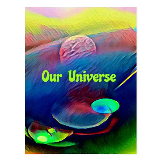Uncommon Bright Rainbow Our Universe Abstract Postcard