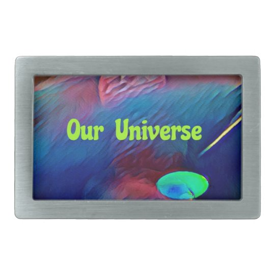 Uncommon Bright Rainbow Our Universe Abstract Rectangular Belt Buckle
