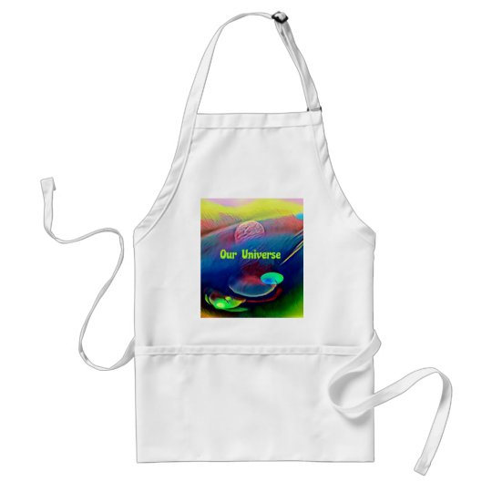 Uncommon Bright Rainbow Our Universe Abstract Standard Apron