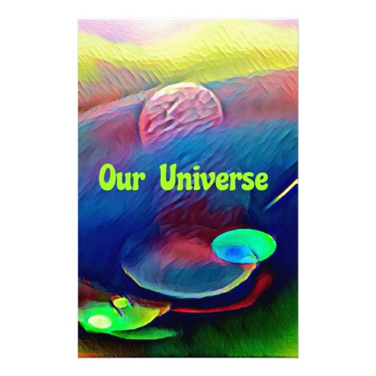 Uncommon Bright Rainbow Our Universe Abstract Stationery