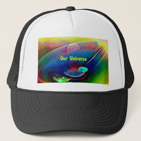 Uncommon Bright Rainbow Our Universe Abstract Trucker Hat