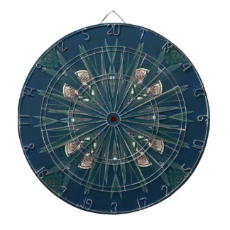 Uncommon Contemporary Artistic Pattern Dartboard