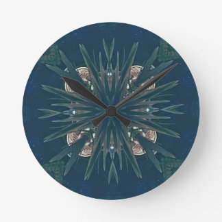 Uncommon Contemporary Artistic Pattern Round Clock